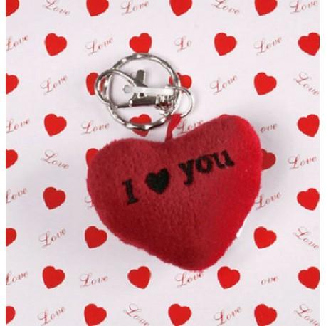 "Llavero Corazón Peluche ""I love you"""