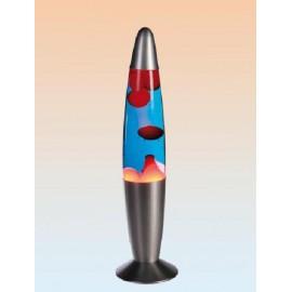Lámpara de lava azul/rojo