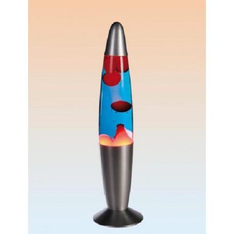 Lámpara de lava rojo/azul